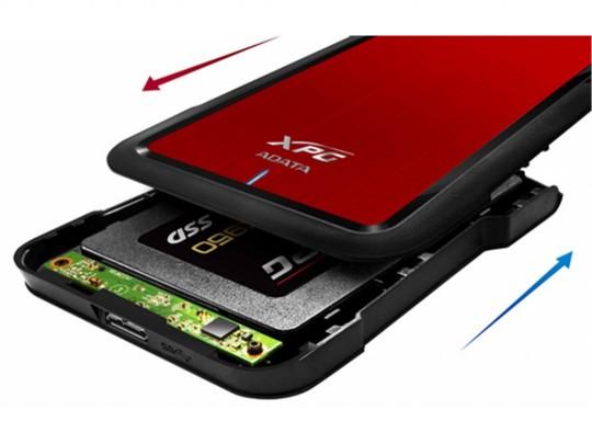 """VARIOUS 1TB SATA 2.5"""" + HDD adapter ADATA EX500 Ext. box pro HDD/SSD 2,5"""" RED HDD external - 1340015 (használt termék) #4"""