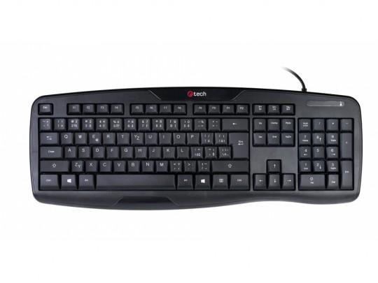 C-Tech KB-107 USB, ERGO, Black, CZ/SK Billentyűzet - 1380040 #2