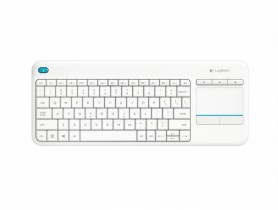 Logitech Wireless Touch Keyboard K400 plus, USB, CZ/SK, White