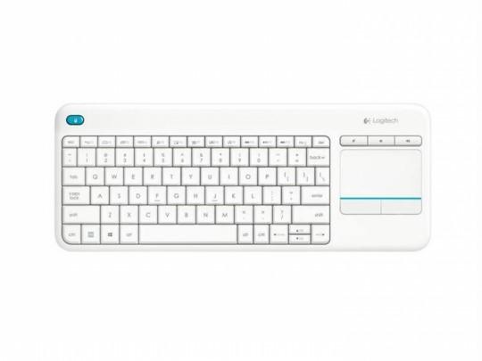 Logitech Wireless Touch Keyboard K400 plus, USB, CZ/SK, White Billentyűzet - 1380058 #1