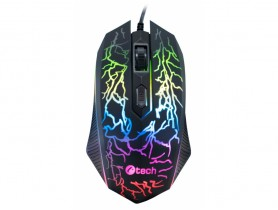 C-Tech Tychon (GM-03P), Casual Gaming, 7 Color, 3200DPI, USB
