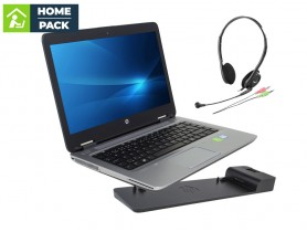 HP ProBook 640 G2 + HP 2013 Ultra Slim D9Y32AA dock station + Headset