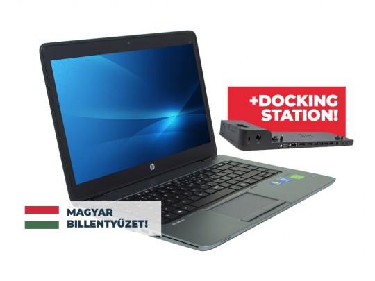 "HP EliteBook 840 G1 + Docking station HP 2013 Ultra Slim D9Y32AA használt laptop, Intel Core i5-4300U, HD 4400, 8GB DDR3 RAM, 256GB SSD, 14"" (35,5 cm), 1600 x 900 - 1526403 #1"
