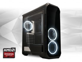 """Furbify GAMER PC """"Newton"""" Tower i3 + ASUS Strix RX570 O4G 4GB felújított használt pc - 1603982"""