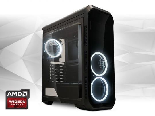 """Furbify PC 6 Tower """"Black Hole"""" + Radeon RX470 8GB felújított használt számítógép, Intel Core i5-6500, Radeon RX470 8GB, 8GB DDR4 RAM, 250GB SSD - 1603989 #1"""