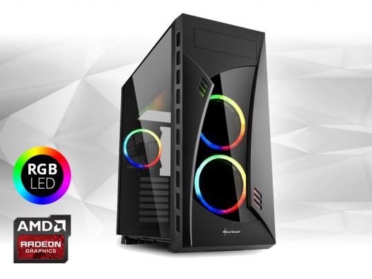 """Furbify PC Tower """"Rainbow"""" + Radeon RX470 8GB felújított használt számítógép, Intel Core i5-6500, Radeon RX470 8GB, 8GB DDR4 RAM, 250GB SSD - 1604073 #1"""