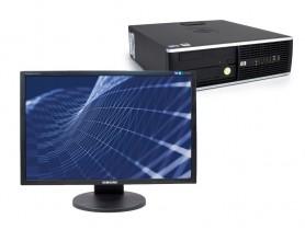 """HP Compaq 8100 Elite SFF + 22"""" Monitor Samsung SyncMaster 2243BW felújított használt számítógép - 1604459"""