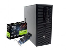 HP EliteDesk 800 G1 Tower i5-4590 + ASUS GT 1030 2GB Low Profile felújított használt számítógép - 1605241
