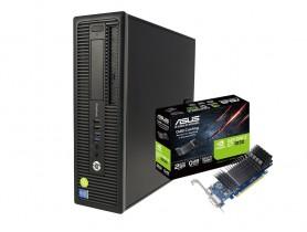 HP EliteDesk 800 G1 SFF i7-4770 + ASUS GT 1030 2GB Low Profile felújított használt számítógép - 1605243