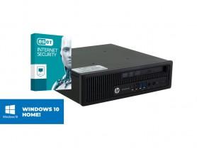 HP EliteDesk 800 G1 USDT + MAR Windows 10 HOME + ESET NOD32 Antivirus felújított használt mini számítógép - 1605399