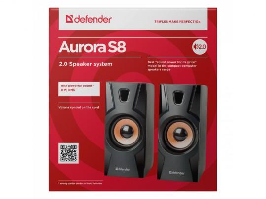 Defender Reproduktor Aurora S8, 2.0, 8W, Black, Volume Control, Hangszóró - 1840026 #2