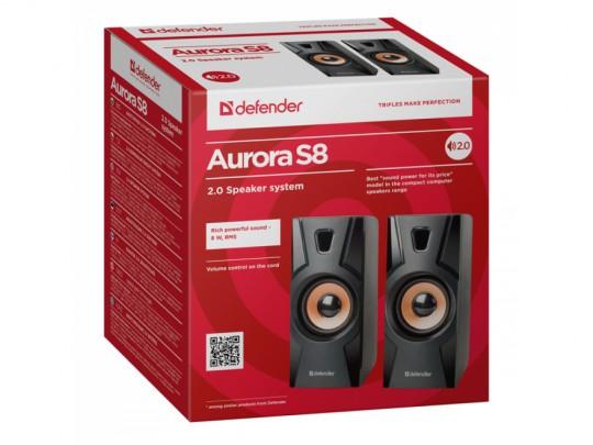 Defender Reproduktor Aurora S8, 2.0, 8W, Black, Volume Control, Hangszóró - 1840026 #3