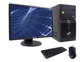 "FUJITSU Esprimo P420 MT + 24"" SAMSUNG SyncMaster 2443DW + Keyboard & Mouse"