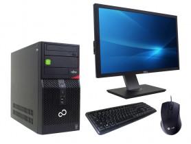 """Fujitsu Esprimo P420 MT + 24"""" DELL P2411H + Keyboard & Mouse"""