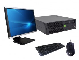 """Lenovo ThinkCentre M92p SFF + Monitor 22"""" Compaq LA2205wg + Keyboard & Mouse felújított használt számítógép - 2070150"""