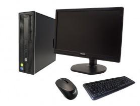 """HP EliteDesk 800 G1 SFF + 21,5"""" Monitor Philips Brilliance 221B6L + Keyboard & Mouse felújított használt számítógép - 2070155"""