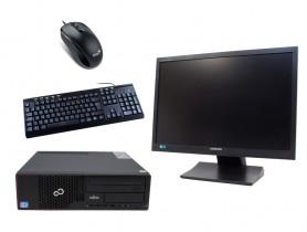 """Fujitsu Esprimo E710 SFF + 22"""" SyncMaster S22A450 + Billentyűzettel & Egérrel felújított használt számítógép - 2070163"""