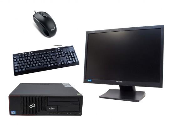 """Fujitsu Esprimo E710 SFF + 22"""" SyncMaster S22A450 + Billentyűzettel & Egérrel felújított használt számítógép, Pentium G640, HD 2500, 4GB DDR3 RAM, 120GB SSD - 2070163 #1"""