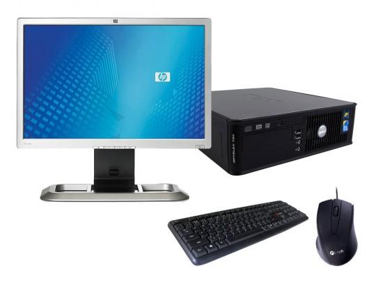 Dell OptiPlex 760 SFF + Monitor HP L2045W + Billentyűzet és Egér felújított használt számítógép, C2D E7300, GMA 4500, 4GB DDR2 RAM, 128GB SSD - 2070164 #1