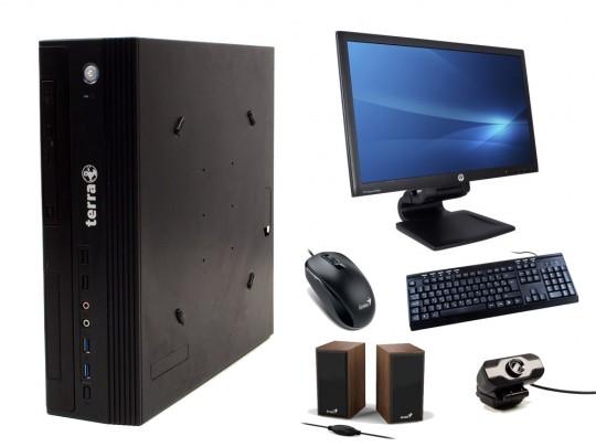 """TERRA Business 5000 Silent SFF + 23"""" HP Compaq LA2306x Monitor + Webcamera + Speaker Genius SP-HF180 + Billentyűzet és Egér felújított használt számítógép, Intel Core i5-4590, HD 530, 8GB DDR3 RAM, 120GB SSD, 1TB HDD - 2070170 #1"""