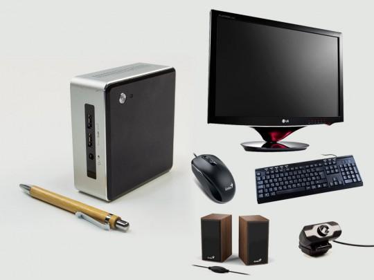 """Intel NUC5i5MYHE mini PC + 24"""" LG W2486L Monitor + Webcamera + Speaker Genius SP-HF180 + Billentyűzet és Egér felújított használt mini számítógép, Intel Core i5-5300U, HD 5500, 8GB DDR3 RAM, 120GB SSD - 2070172 #1"""