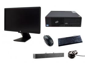 """Fujitsu Esprimo E710 SFF + 21,5"""" HP Z22i Monitor + Webcamera + HP S100 Speaker Bar 2,5W + Billentyűzet és egér felújított használt számítógép - 2070174"""