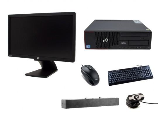 """Fujitsu Esprimo E710 SFF + 21,5"""" HP Z22i Monitor + Webcamera + HP S100 Speaker Bar 2,5W + Billentyűzet és egér felújított használt számítógép, Pentium G640, HD 2500, 4GB DDR3 RAM, 120GB SSD, 250GB HDD - 2070174 #1"""