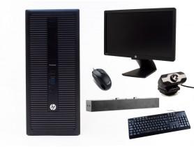 """HP ProDesk 600 G1 TOWER + 21,5"""" HP Z22i Monitor + Webcamera + HP S100 Speaker Bar 2,5W + Billentyűzet és Egér felújított használt számítógép - 2070178"""