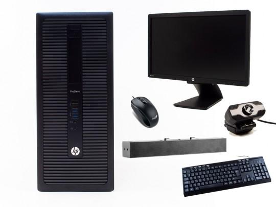"""HP ProDesk 600 G1 TOWER + 21,5"""" HP Z22i Monitor + Webcamera + HP S100 Speaker Bar 2,5W + Billentyűzet és Egér felújított használt számítógép, Intel Core i3-4330, HD 4600, 8GB DDR3 RAM, 120GB SSD, 500GB HDD - 2070178 #1"""