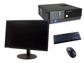 """Dell OptiPlex 390 SFF + 22"""" ThinkVision T2254a + Billentyűzet és Egér + Windows 10 Pro telepítve"""