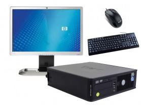 """Dell OptiPlex 745 SFF (Bronze) + 20,1"""" HP L2045W Monitor (Bronze) + Billentyűzet és Egér"""