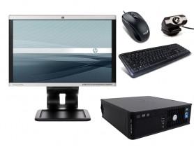 "Dell OptiPlex 760 SFF + 19"" Monitor HP LA1905wg + Webcamera + Egér és Billentyűzet + Telepített Windows 10 PRO"