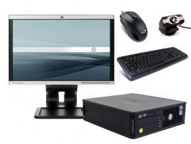 "Dell OptiPlex 755 SFF + 19"" Monitor HP LA1905wg + Webcamera + Egér és Billentyűzet + Telepített Windows 10 PRO"