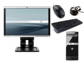 """HP 500B Microtower + 19"""" Monitor HP LA1905wg + Webcamera + Egér és Billentyűzet + Telepített Windows 10 PRO"""