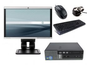 "Dell OptiPlex 790 USFF + 19"" Monitor HP LA1905wg + Webcamera + Egér és Billentyűzet + Telepített Windows 10 PRO"