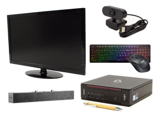 """Fujitsu Esprimo Q556 USFF + 24"""" Monitor TERRA 2450W + Speaker + FullHD Webkamera + Egér és Billentyűzet felújított használt számítógép, Intel Core i5-6400T, HD 530, 8GB DDR4 RAM, 240GB SSD - 2070215 #1"""