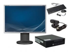 "HP EliteDesk 800 G1 USDT + 22"" Samsung SyncMaster 2243BW + Webkamera komplett pc - 2070255"