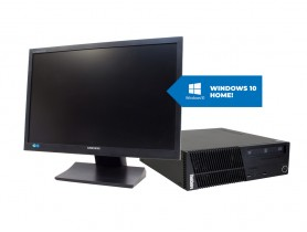 "Lenovo ThinkCentre M72E SFF + 22"" Samsung S22A450 Monitor + MAR Windows 10 HOME"