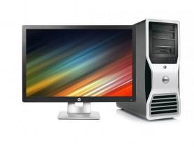 "Dell Precision T7500 Workstation + 24"" HP Elitedisplay E242 IPS Monitor (Quality Silver) Komplett PC - 2070324"