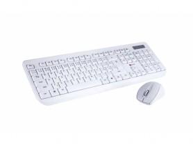 C-Tech CZ/SK WLKMC-01 Wireless Combo Set White Keyboard and mouse set - 2260015