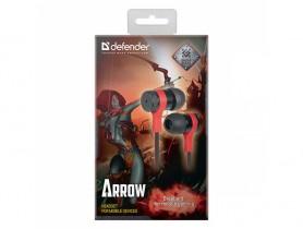 Defender Arrow, 3.5 mm jack, Black-Red Headset - 2280005